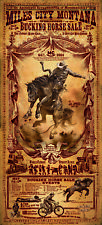 Mile City Montana Buckle Horse Sale Rodeo Western Poster by Bob Coronato