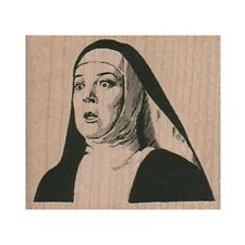 NEW Surprised Nun RUBBER STAMP, Nun Stamp, Religious Stamp, Church Stamp