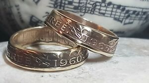 Coin Ring  - Crafted from  Threepence - your size, your date