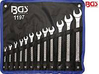 BGS 1197 12-tlg Satz Maulringschlüssel DIN3113 Maulschlüssel Ringschlüssel