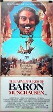 ADVENTURES OF BARON MUNCHAUSEN MOVIE POSTER Original 13x30 AUSTRALIAN Daybill