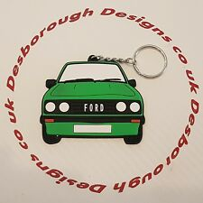 Ford MK2 Escort Rs 2000 Key Ring Signal Green Front