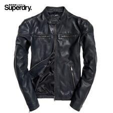 Classique Superdry véritable héros en cuir perfecto (Gris)/NEUF/XL