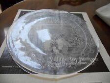 "Vintage Round Hostess Platter Crystal Buffet by L.E.Smith ""Village Toy Shoppe"