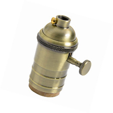 Porte-ampoule vintage brass lamp holder socket e27 avec interrupteur on/off de splink li