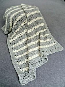 Baby blanket hand crocheted generous size machine washable very soft
