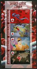 NIGER 2016 FIGHT AGAINST EBOLA RED CROSS SHEET MINT NEVER HINGED