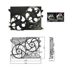 Dual Radiator & Condenser Fan Fits: 2008 - 2010 Saturn Vue L4 2.4L V6 3.5L 3.6L