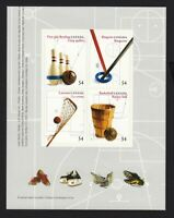 SPORTS = BOWLING, BASKETBALL,.. = Left Booklet Page of 4 = Canada 2009 #2338 MNH