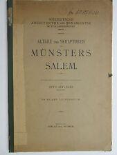 Otto Aufleger Altäre und Skulpturen des Münsters zu Salem Werner Verlag München