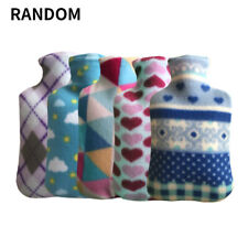 Large 2L Liter Litre Hot Water Bottle Quality Safety Beautiful Fleece Cover I9Z