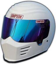 SIMPSON OUTLAW HELMET SNELL SA2015 GLOSS WHITE S SMALL 56cm 7