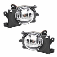 Pair Driver & Passenger Front Bumper Fog Lights Lamp Fit BMW E39 5 Series 01-03