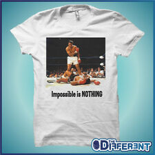 T-SHIRT MUHAMMAD ALI IMPOSSIBLE IS NOTHING  THE HAPPINESS IS HAVE MY T-SHIRT NEW