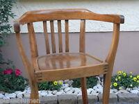 Art Deco Armlehnstuhl Schreibtischstuhl ~ Massiv Bürostuhl gekeilt Stuhl braun