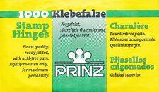 Prinz 1000 Listo Doblado Sello Bisagras Coleccionistas-Montajes libre de ácido