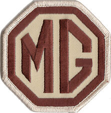 MG Brown / Beige embroidered patch 3 inch size