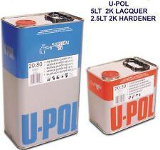 Clear Lacquer Car Paint  HS 2k  U-POL 20-80 7.5lt kit
