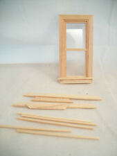 Half Scale - Window Double Hung H5032   1:24 Dollhouse wooden Houseworks