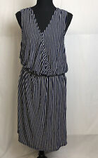 Anthropologie Sunday in Brooklyn Womens Navy White Striped Sleeveless Dress XL