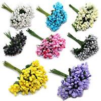 24/48PCS Mulberry Mini Flowers Artificial Flower Stamen Wedding Embellishment