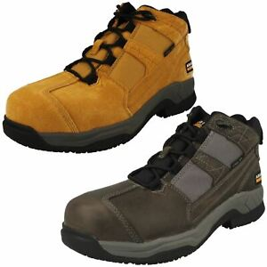 Mens Ariat 'Contender' Steel Toe Leather Lace Up Safety Boots