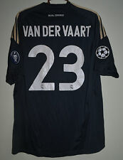 REAL MADRID 2009/2010 THIRD CHAMPIONS LEAGUE FOOTBALL SHIRT JERSEY VAN DER VAART