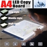 A4 LED Light Graphic Tablet Panel Drawing Board Luminous Stencil Tracing Pad