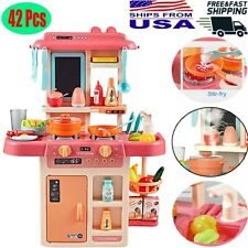 Kitchen Pretend Play Toys For Kids Role Play 42PCS Cooking Set Playset Xmas Gift