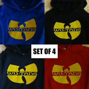 WU TANG CLAN - HOODIES - SET OF 4 - REAL HIP HOP - GREAT CONDITION