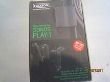 Flexson Support mural Réglable pour Enceinte Sonos Play 1 Blanc (paire)