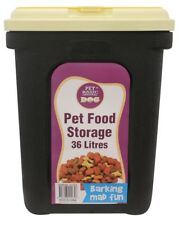 Dog Cat Pet Feeder Food Storage Container Dry Dispenser 36L With Scoop