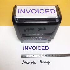 New Listinginvoiced Rubber Stamp Purple Ink Self Inking Ideal 4913