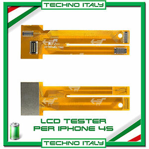 CAVO TESTER PER LCD IPHONE 4 4S DISPLAY TEST TOUCH SCREEN FLAT