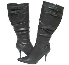 Women's Fashion Slouch  BOOTS GRAY Designer Winter Snow shoes Ladies Size 5.5