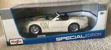 Maisto Special Edition Diecast 1/18 1999 Shelby Series 1 Convertible White NIB