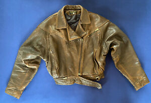 Ideal (UK) Leather Motorcycle Jacket Women's Size L