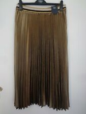 BNWT LADIES M&S COLLECTION RANGE GOLD/BLACK/WHITE MIX PLEATED SKIRT SIZE 24 LONG