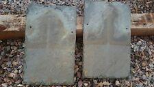 """Antique Vintage Vermont Slate Roof Tile large 10""""x16"""""""