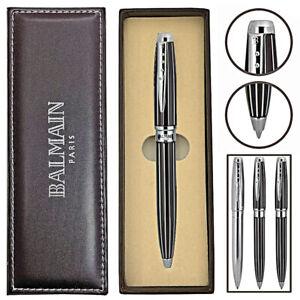 Balmain Kugelschreiber ROCAMADOUR Kulli Stift Schreibgerät Metall Geschenkbox