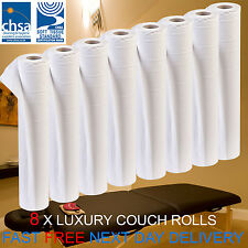 LUXURY White 20 inch Couch Roll Hygiene Roll - 40 Metres 8 Rolls