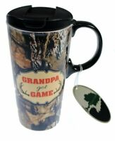 Mossy Oak Ceramic Travel Coffee Mug - 17oz - Grandpa Got Game
