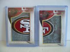CARLOS HYDE 2014 Panini Immaculate Player Caps SF Logo Patch #/8 Two Cards RARE