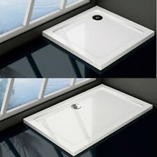 Shower Tray Enclosure Wet Room Slimline Square Rectangle Stone Tray + Free Waste