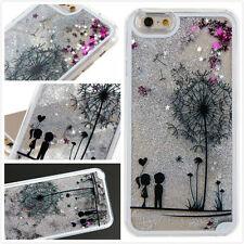 Dynamic Liquid Glitter Quicksand dandelion Case Cover For iPhone 5s 5c 6s 7 Plus