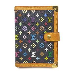 Louis Vuitton LV Diary Cover Agenda PMR20895 Black Monogram Multicolore 1524526