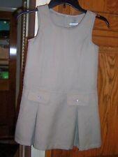 Girls Wonder Nation Brand Sz 7 Khaki Beige Polyester School Uniform Jumper Guc
