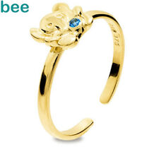 Girls First Elephant 9ct Yellow Gold stone Budget Rings Size K 5.25 25293/SPAQ'K