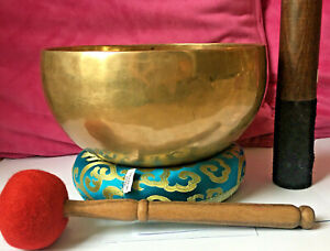 Classical Fully Hand-hammered 1224gm Singing Bowl Set,Chakra Healing F Note