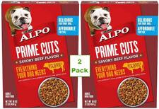 2 pk Purina Alpo Prime Cuts Savory Beef Flavor Adult Dog Food 1 Lb Box 16 oz